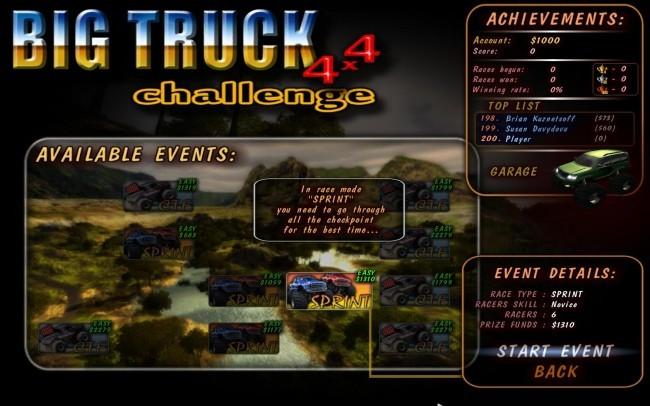 Big Truck 4×4 Challenge