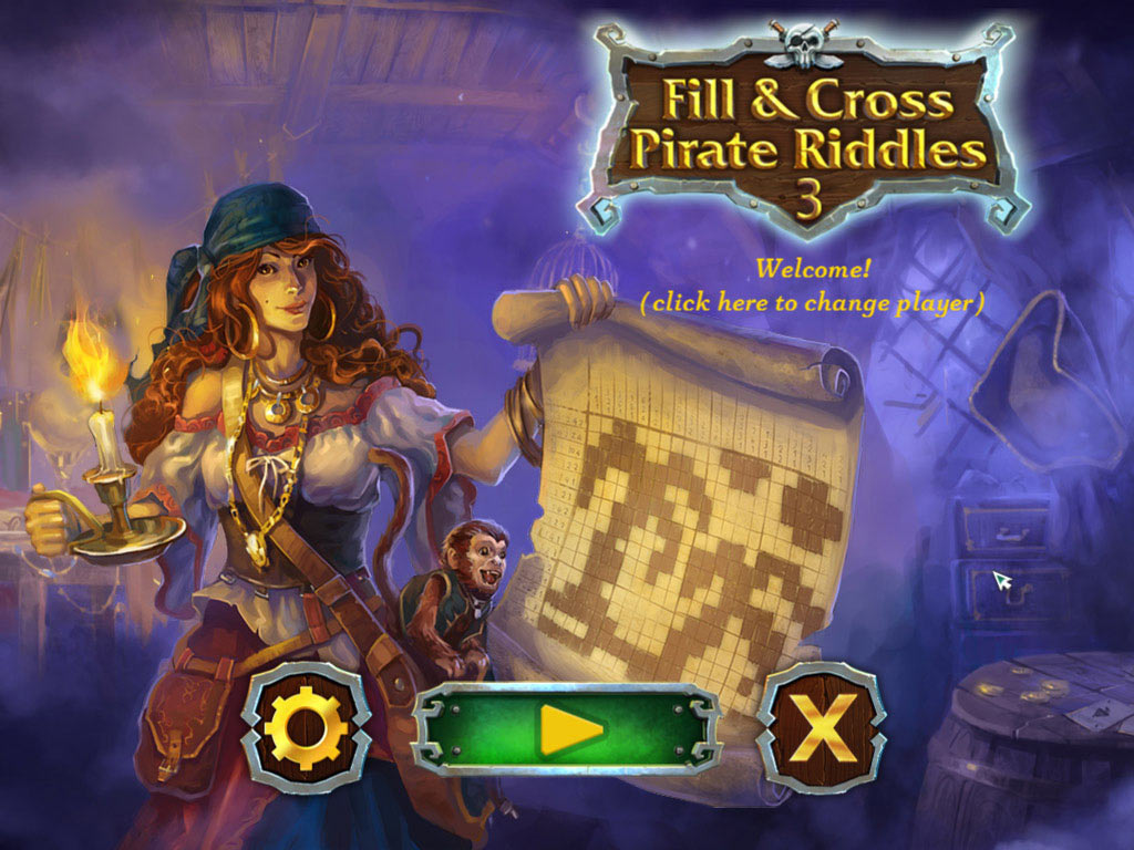 Fill and Cross: Pirate Riddles 3