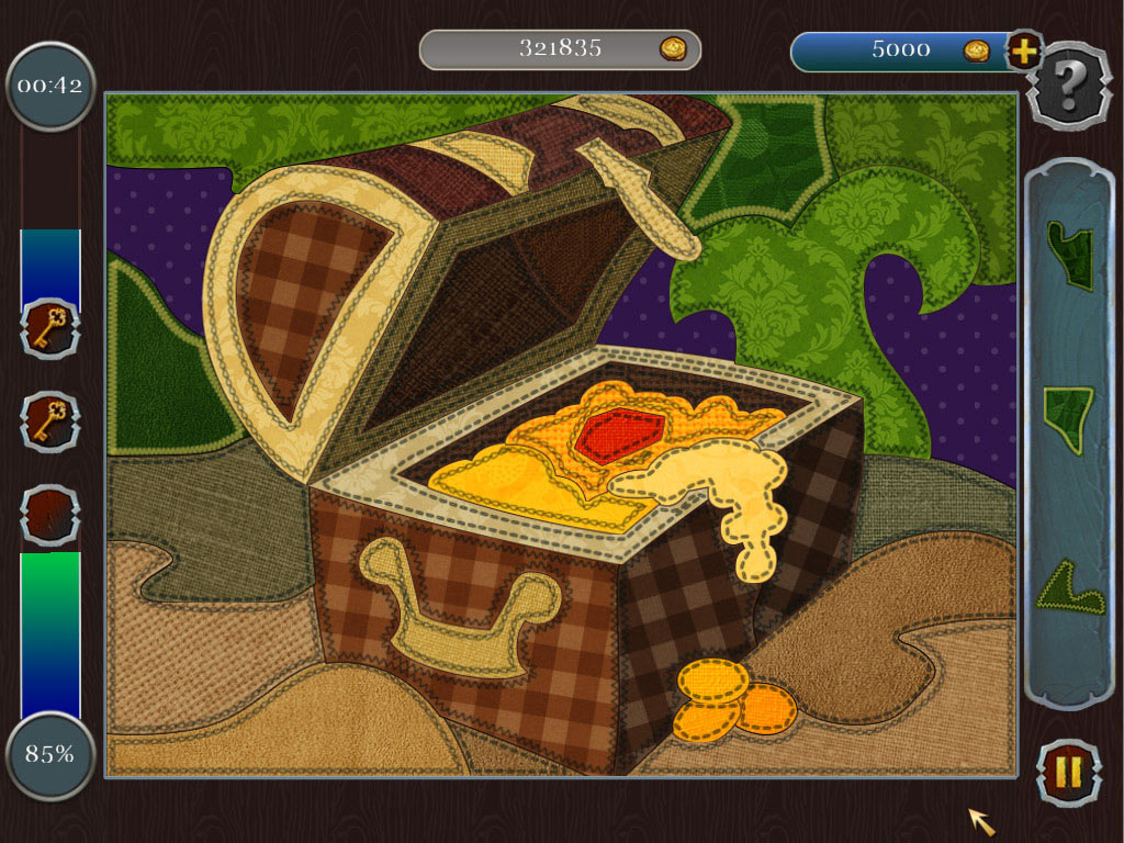 Pirate Mosaic Puzzle: Caribbean Treasures