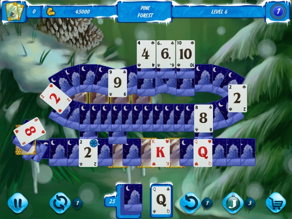 Solitaire Jack Frost: Winter Adventures 3