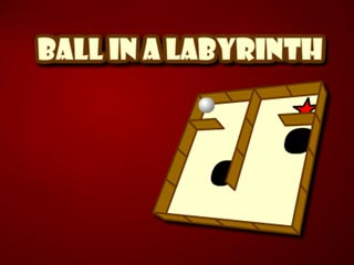 Ball in a labyrinth