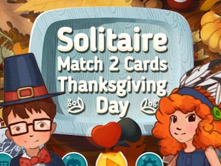 Solitaire Match 2 Cards: Thanksgiving Day